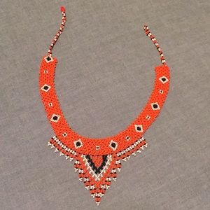 Beaded African necklace🧡🖤